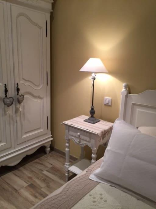 Une chambre pour 2, douillette à souhait et un grand lit 160x200