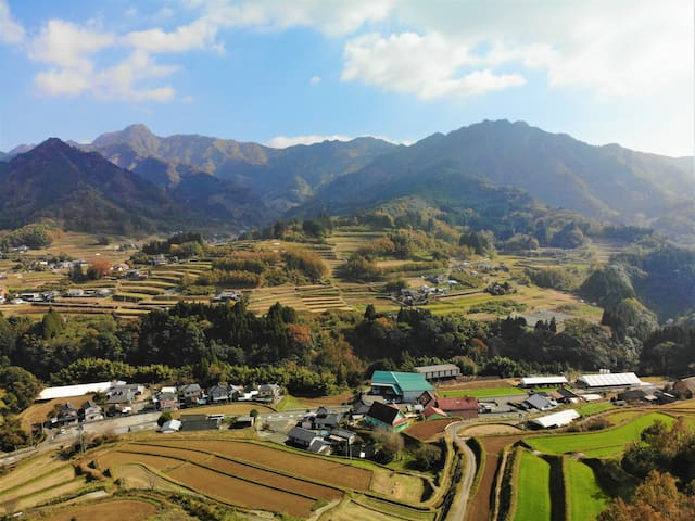 A room with a view of Mt.Ohira