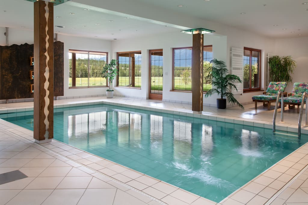 Indoor pool is located downstairs in the villa and also contains a steam shower, sauna & gym.