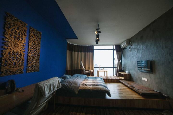 3101珠海故事空间180度海景顶层复式艺术创意空间--海天(带独立卫浴) - Zhuhai - Departamento