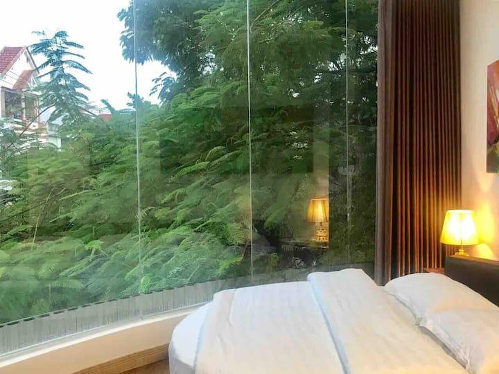 Panorama studio-balcony-city view-smart home 13