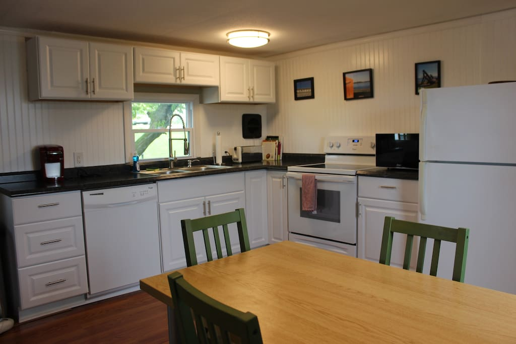 Remodeled kitchen with eat-in table