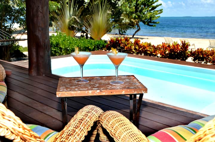 Private Caribbean Seafront Luxury Villa with Pool