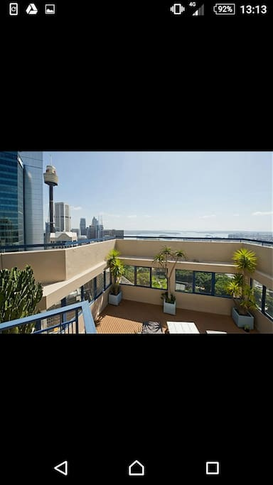 Rooftop lounge next to Sydney Tower