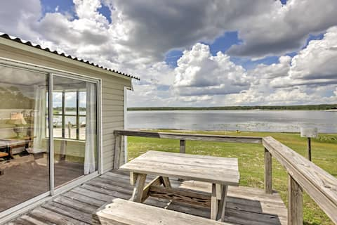 Silver Springs Cabin w/Deck - Right on the Lake!
