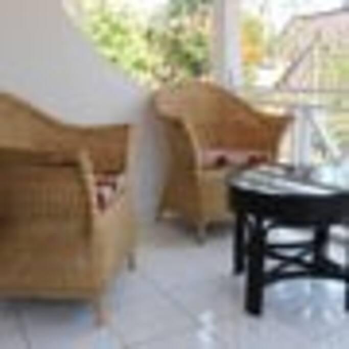 Private Balcony w/ Green Garden