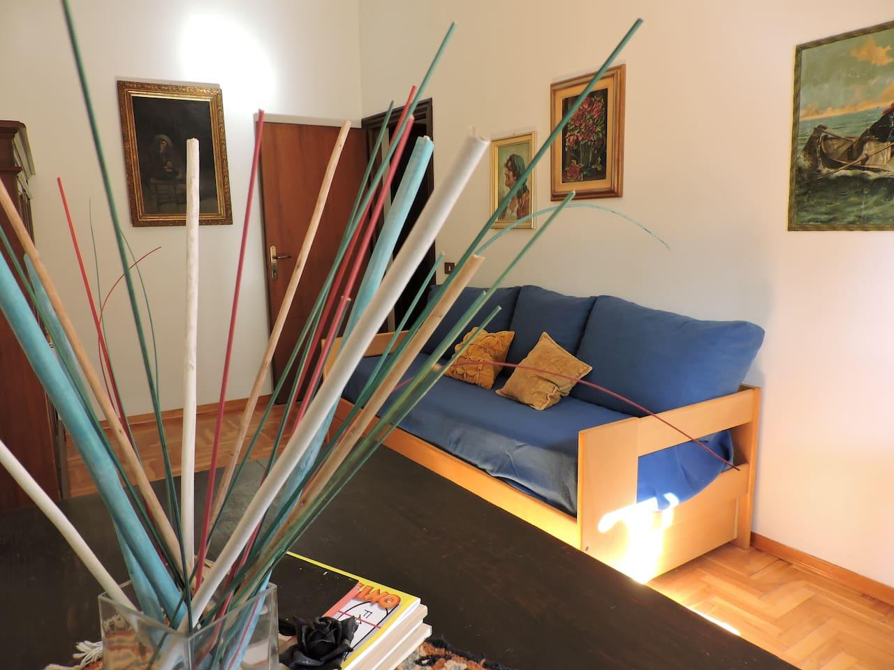 Camera/Studio con divano-letto trasformabile in due letti singoli