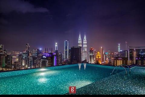 ❤️G!❤️ 豪华无边际泳池1房1厅 EXP Luxury Sky pool 1BR
