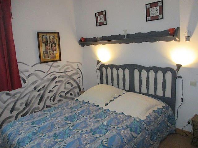 La chambre pour 2 personnes à l'étage