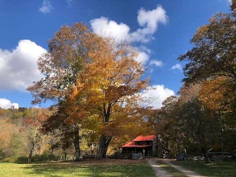 Historic Secluded Log Cabin near Snowshoe Mountain