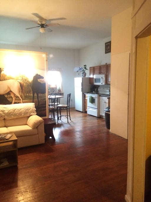 """This is the Studio, your """"home away from home""""...right in the heart of downtown Brunswick."""