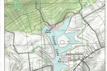 Leaser Lake Map