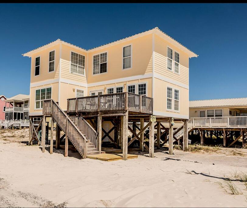 Gulf Coast Beach Houses: Beachfront W/o The Price! Only 50 Yards To Beach!