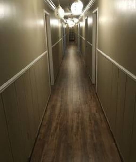 Hallway leading to your suite.