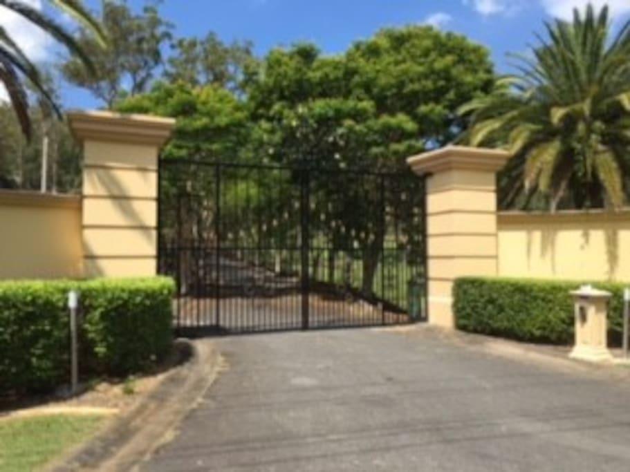 Security Entrance to Villa Cervi