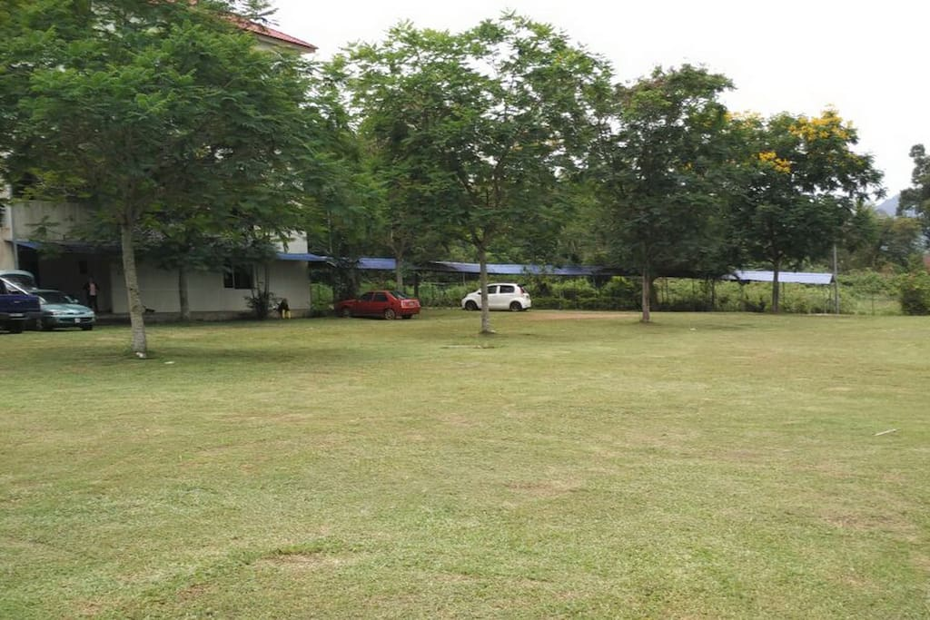 Compound and parking area