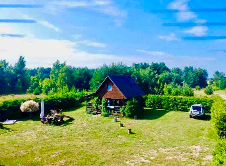 """Wooden Cabin """"Lawendowe Zacisze""""50 km from Tricity"""