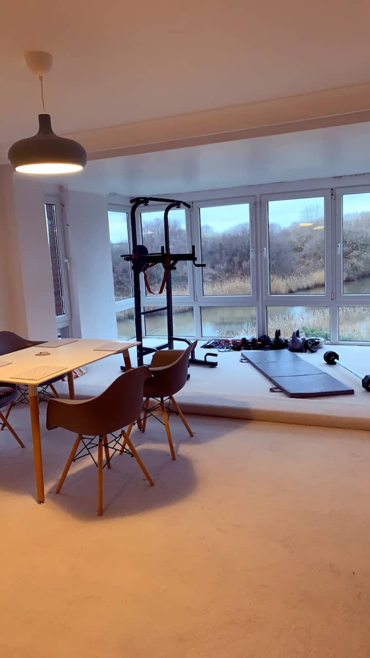 Large double room with stunning river views