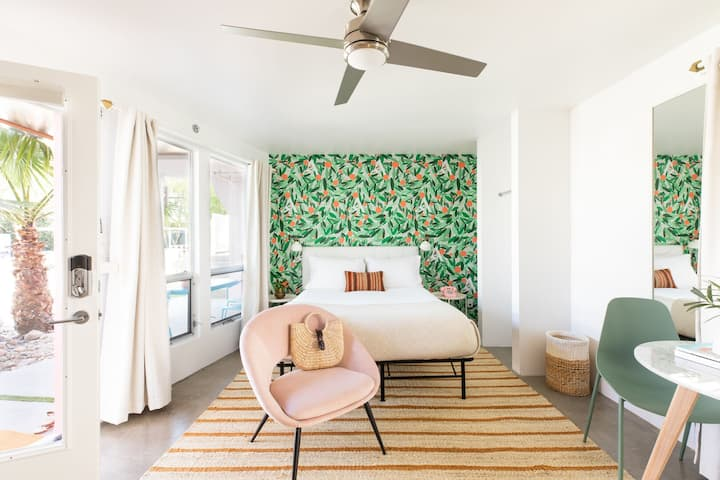 The Wesley Suite 6 by AvantStay | Stylish Queen Studio w/ Patio Access