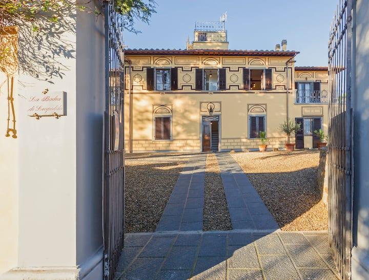 La Badia di Leopoldo, villa con giardino a Firenze