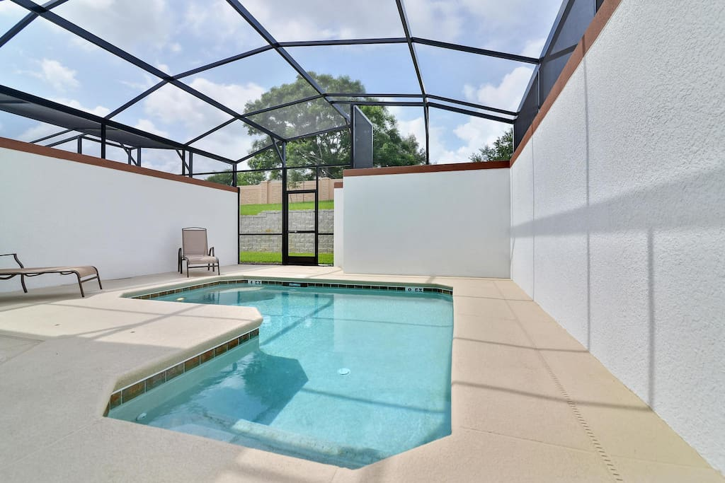 Enjoy the Florida sunshine in your private, enclosed plunge pool area! Relax on the deck loungers reading a book or sun bathing in this private paradise.