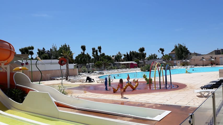 Mobile Home Neuf 6 pers camping 4*  Valras-Plage