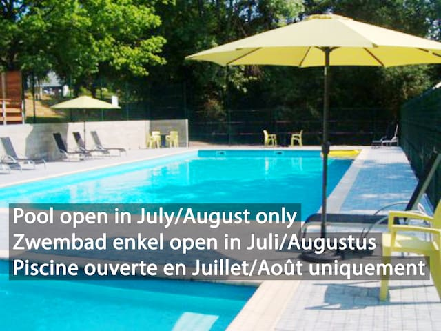 Butterfly cottage 8 guests with pool near Dinant
