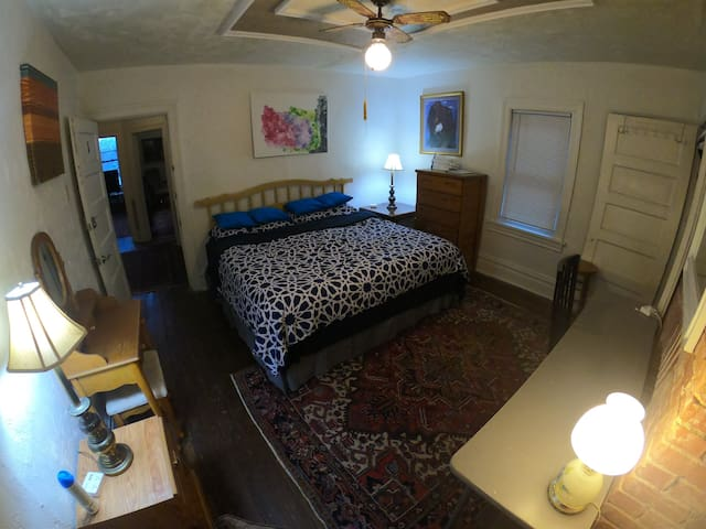 Private Bedroom with King Bed in Highland Park #1