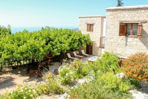 Mountain and Sea View Villa Anna Lysos