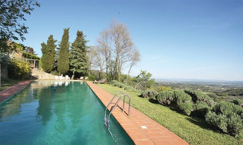 The Owl: view, pool and garden
