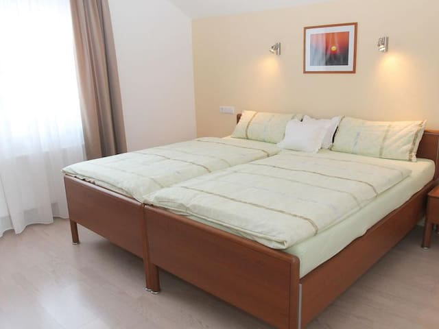 """Sunny Holiday Apartment """"Ferienwohnung Irmi"""" close to Lindau and Mountains with Wi-Fi & Balcony; Parking Available"""
