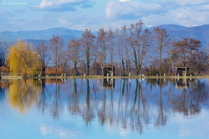 Потрясающий вид на горы около озера - Тбилиси - Hus