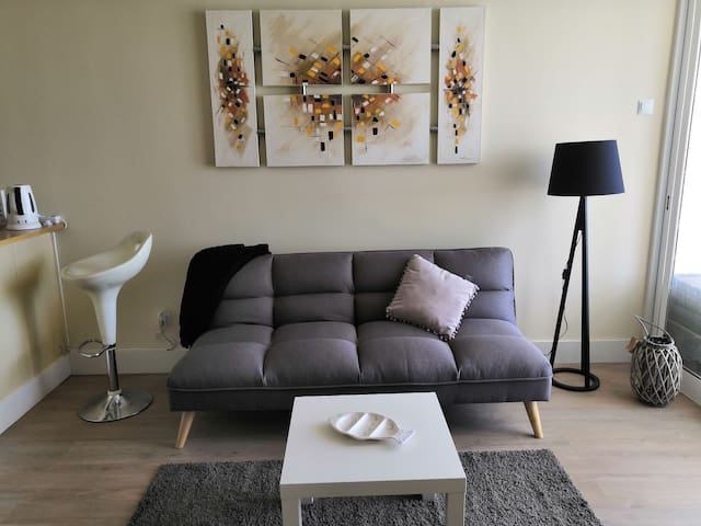 Every item in the stidio apartment is brand new including the sofa bed