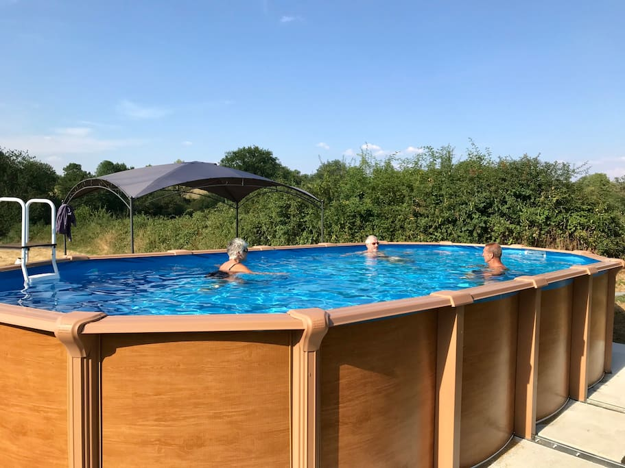 Swimming pool on campsite - access available to all who stay