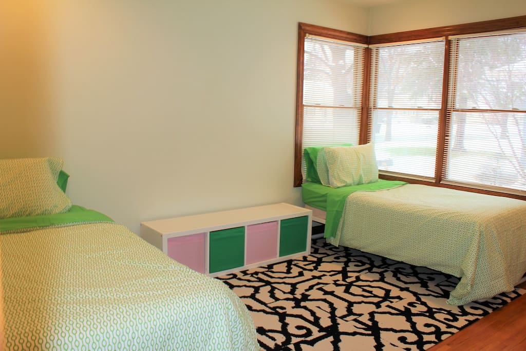 Bedroom #1 has 2 twin beds. You will be provided with clean sheets and freshly washed blankets and towels.