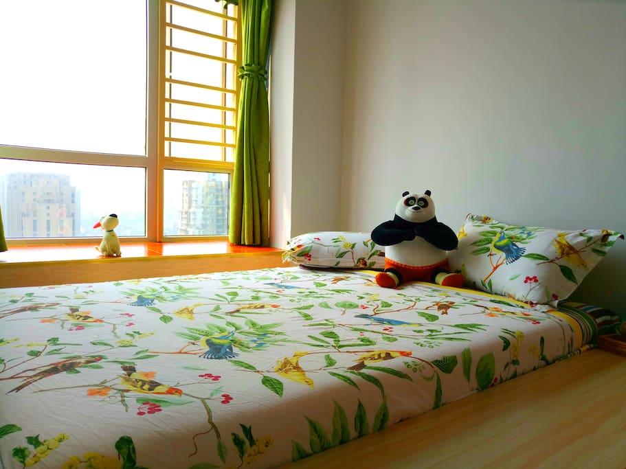 主卧不同风格的床品2