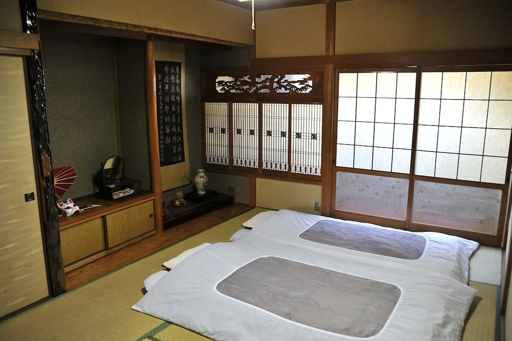 A Japanese-style room is a room on whose floor tatami mats are laid in a traditional Japanese house.