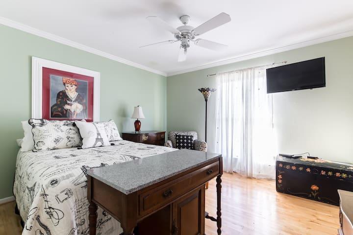 Walk to Knox St., Highland Park Private room/bath - Dallas - Wohnung