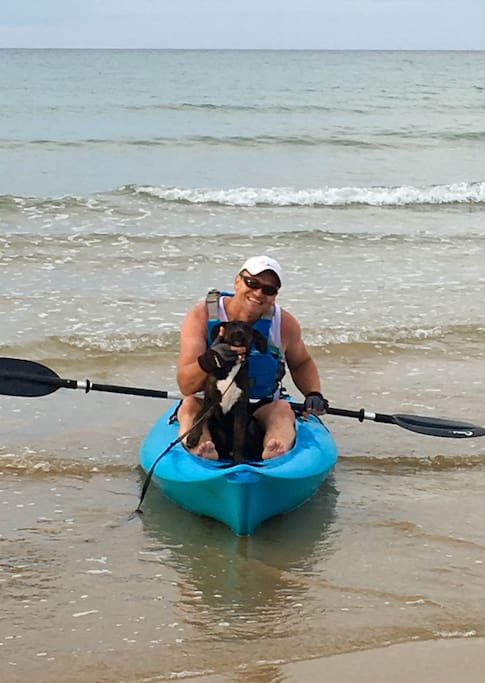Your host enjoys kayaking in the ocean and surrounding rivulets
