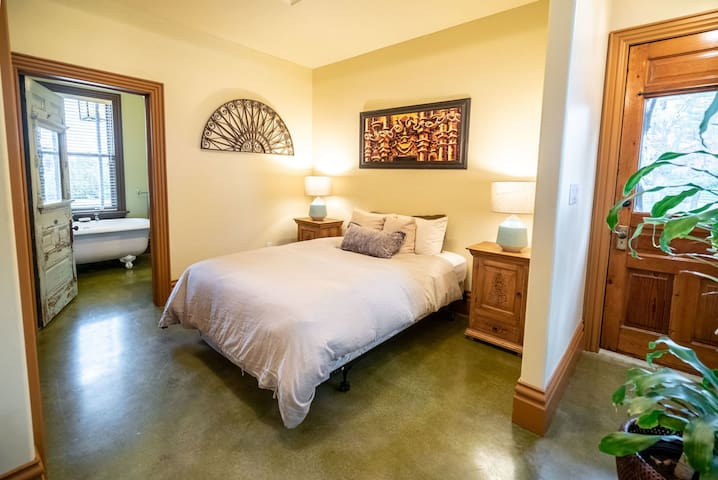 Bedroom 7 - En-suite with separate space for queen size air-mattress or pull out couch and private entrance.