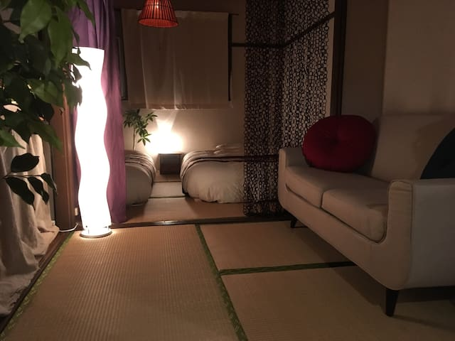 Lovely & Comfy! Asian-style room in central OSAKA.