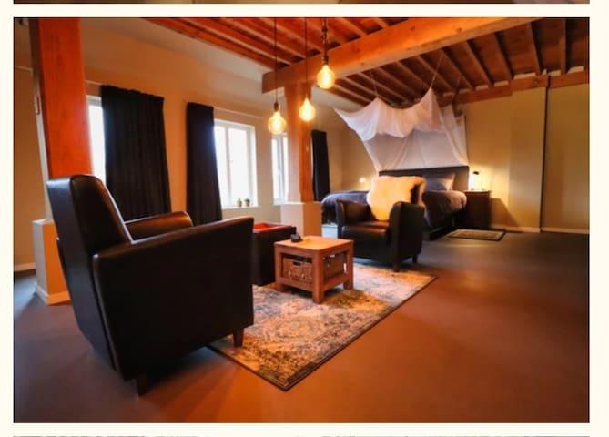 Luxe gastenkamer in voormalige landbouwschuur