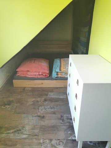Schlafbereich 2, gibt noch einen Raumteiler falls benötigt