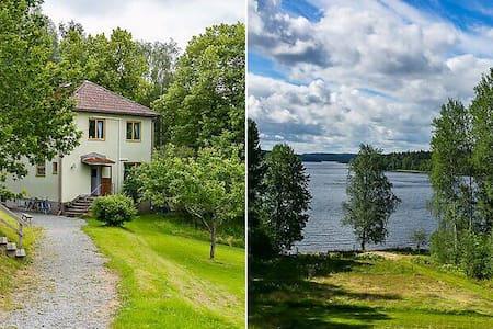 Artsy 50ies house w private beach - Bengtsfors S - Casa