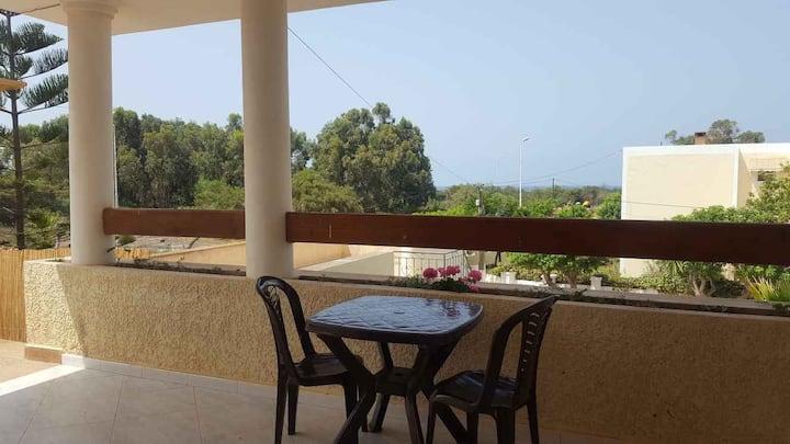 Saïdia bord de mer, au calme,terrasse,jardin,wifi.