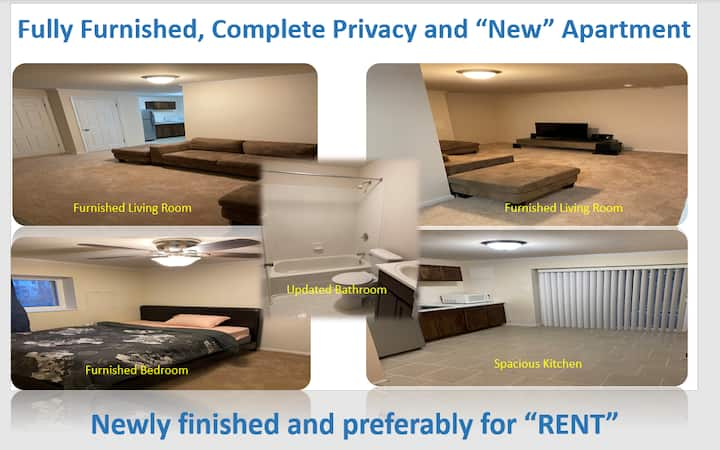 New & Fully Furnished , Restful Apartment
