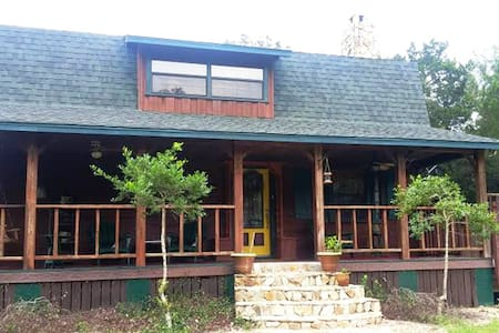 CYPRESS LOG HOME POOL SPA ON 2 ACRES WOODS PRIVATE - House