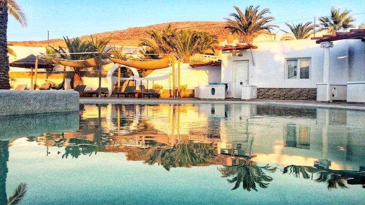 Apartments mykonos shared pool