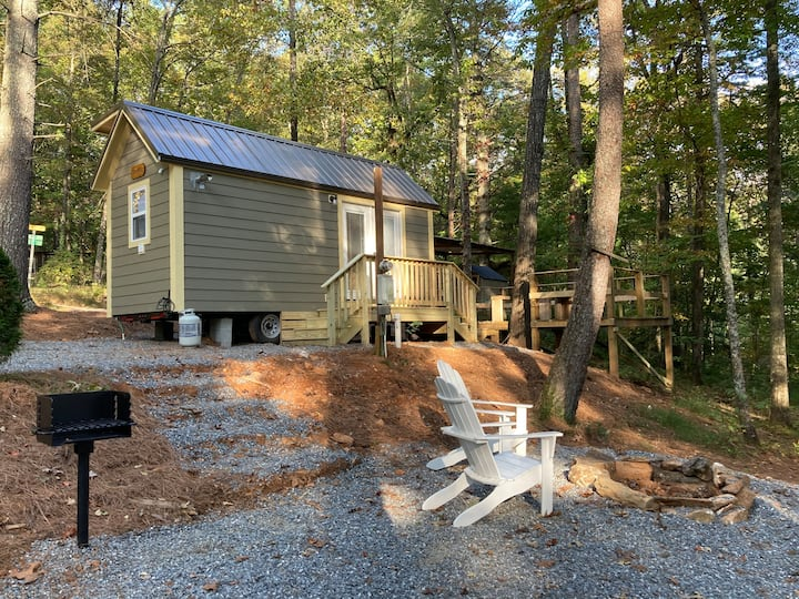 Sycamore Tiny Home at Bleu Canoe Campground