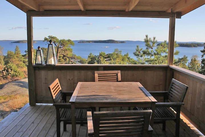 Vacker villa med havsutsikt